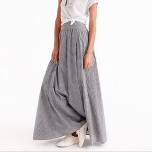 RARE J Crew Ball Maxi Skirt in Gingham - Sz 8